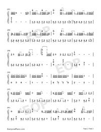 單向箭頭-雙笙雙手簡譜預覽2