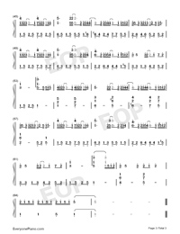 單向箭頭-雙笙雙手簡譜預覽3
