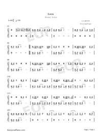 Loca-Alvaro Soler-Numbered-Musical-Notation-Preview-1