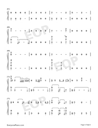 Undecided-Chris Brown-Numbered-Musical-Notation-Preview-4