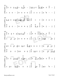 Undecided-Chris Brown-Numbered-Musical-Notation-Preview-5