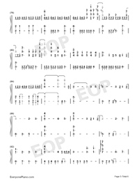 Shape of You-Play Version-Numbered-Musical-Notation-Preview-5