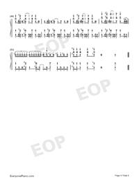 異世界かるてっと-異世界四重奏OP雙手簡譜預覽4