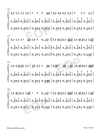 I Dont Care-Ed Sheeran ft Justin Bieber-Numbered-Musical-Notation-Preview-2