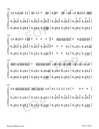 I Dont Care-Ed Sheeran ft Justin Bieber-Numbered-Musical-Notation-Preview-3