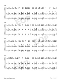 I Dont Care-Ed Sheeran ft Justin Bieber-Numbered-Musical-Notation-Preview-4