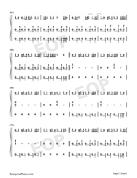 I Dont Care-Ed Sheeran ft Justin Bieber-Numbered-Musical-Notation-Preview-5