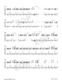 綠色-完美原聲版雙手簡譜預覽2