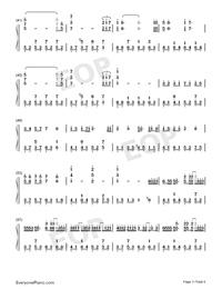 綠色-完美原聲版雙手簡譜預覽3
