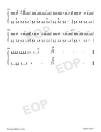 綠色-完美原聲版雙手簡譜預覽4