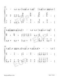 起風了-彈唱譜雙手簡譜預覽3