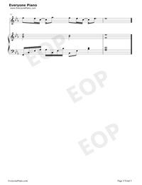 起風了-彈唱譜五線譜預覽5