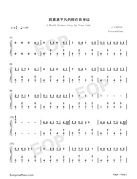 I Would Rather Stay By Your Side-Numbered-Musical-Notation-Preview-1