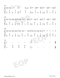 I Would Rather Stay By Your Side-Numbered-Musical-Notation-Preview-2