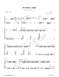 Mariage damour Adapted Version-Dream Wedding-Numbered-Musical-Notation-Preview-1