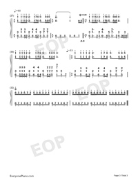Mariage damour Adapted Version-Dream Wedding-Numbered-Musical-Notation-Preview-3
