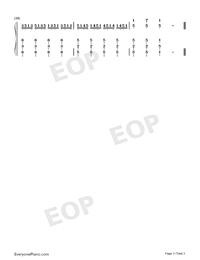 哪裏都是你-簡單版-天台主題曲雙手簡譜預覽3