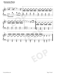 哪裏都是你-簡單版-天台主題曲五線譜預覽3