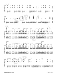 Hes a Pirate-Perfect Version-He's a Pirate-Numbered-Musical-Notation-Preview-5