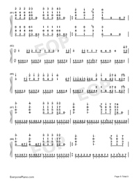 Hes a Pirate-Perfect Version-He's a Pirate-Numbered-Musical-Notation-Preview-8