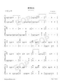 Believers-Jam Hsiao Numbered Musical Notation Preview 1