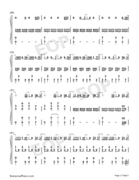 How to Say I Dont Love You-Jam Hsiao Numbered Musical Notation Preview 3