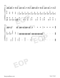 How to Say I Dont Love You-Jam Hsiao Numbered Musical Notation Preview 5