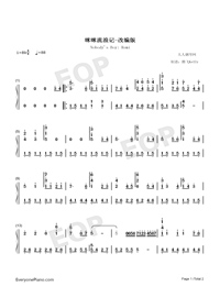 Nobody's Boy Remi-Adapted Version-Numbered-Musical-Notation-Preview-1