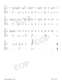 Eine Kleine-Aine Kuraine-Kenshi Yonezu-Numbered-Musical-Notation-Preview-4
