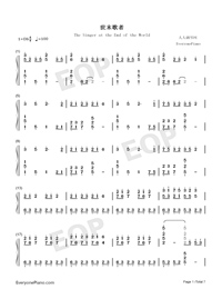The Singer at the End of the World-Numbered-Musical-Notation-Preview-1