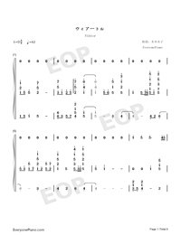 Viātor-Maquia When the Promised Flower Blooms Theme-Numbered-Musical-Notation-Preview-1