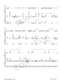 Viātor-Maquia When the Promised Flower Blooms Theme-Numbered-Musical-Notation-Preview-2