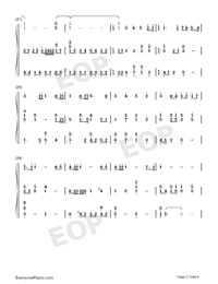 Viātor-Maquia When the Promised Flower Blooms Theme-Numbered-Musical-Notation-Preview-3