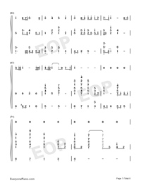 Viātor-Maquia When the Promised Flower Blooms Theme-Numbered-Musical-Notation-Preview-7