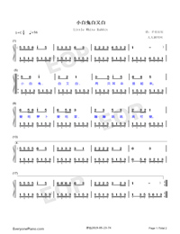 Little White Rabbit-Numbered-Musical-Notation-Preview-1