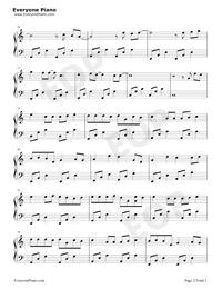 最近-你想要的我卻不能夠給你我全部-唯美鋼琴版-抖音熱歌五線譜預覽2