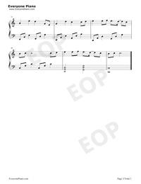 最近-你想要的我卻不能夠給你我全部-唯美鋼琴版-抖音熱歌五線譜預覽3