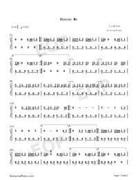 Rescue Me-OneRepublic-Numbered-Musical-Notation-Preview-1
