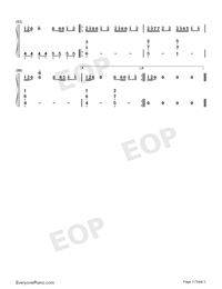 Rescue Me-OneRepublic-Numbered-Musical-Notation-Preview-3