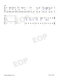 Two Tigers-Adapted Version-Frère Jacques-Numbered-Musical-Notation-Preview-2