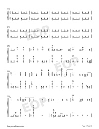 Viāto-Piano Version Numbered Musical Notation Preview 2