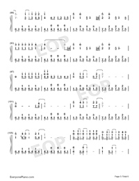 Because of You-The Piano Guys-Numbered-Musical-Notation-Preview-5