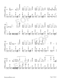 Day to Story-Date A Live II ED Numbered Musical Notation Preview 4