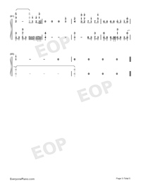 Day to Story-Date A Live II ED Numbered Musical Notation Preview 5
