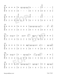 Let Her Go-Easy Version Numbered Musical Notation Preview 2