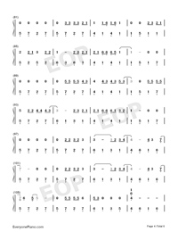 Let Her Go-Easy Version Numbered Musical Notation Preview 4