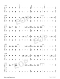 Let Her Go-Easy Version Numbered Musical Notation Preview 5