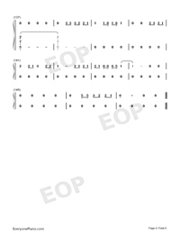 Let Her Go-Easy Version Numbered Musical Notation Preview 6