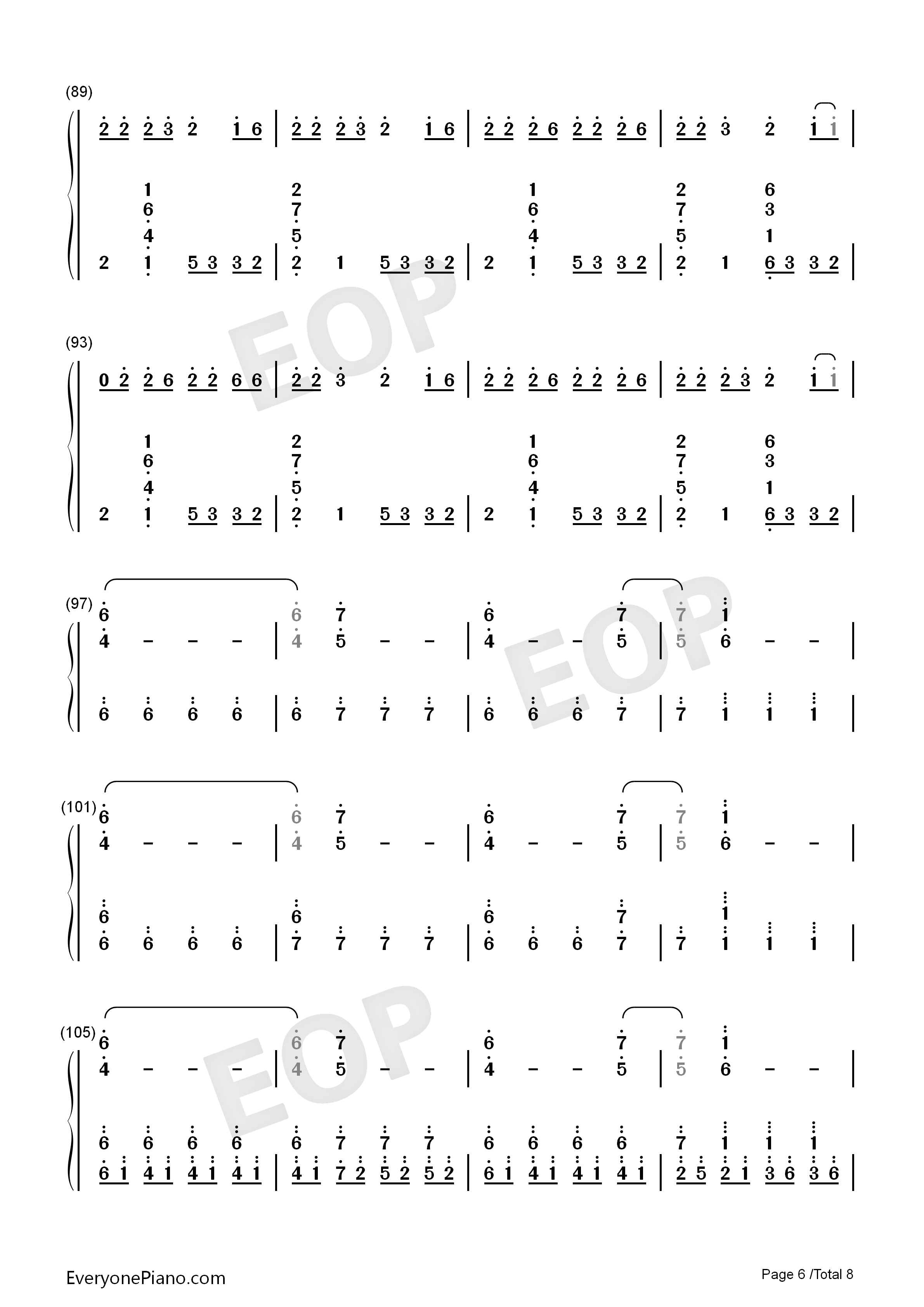 Congratulations-Pewdiepie Numbered Musical Notation Preview 6