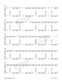 Congratulations-Pewdiepie-Numbered-Musical-Notation-Preview-2
